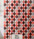 Cortina de Baño 100% PEVA ECA – Ball Rojo