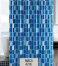 Cortina de Baño 100% PEVA ECA – Maca Azul v3