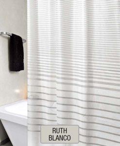 Cortina de Baño 100% PEVA ECA - Ruth Blanco
