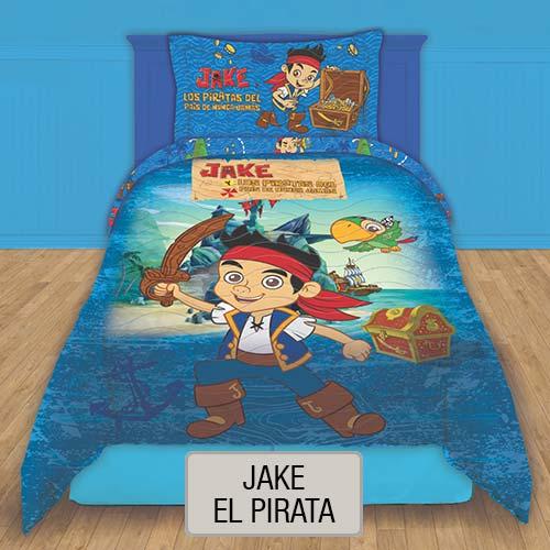 Cubrecama Quilt Reversible Disney - Jake el Pirata