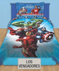 Cubrecama Quilt Reversible Disney - Los Vengadores