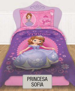 Cubrecama Quilt Reversible Disney - Princesa Sofia