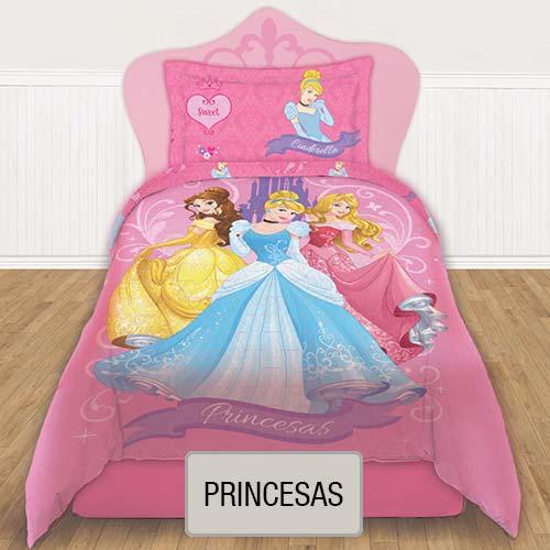 Cubrecama Quilt Reversible Disney - Princesas