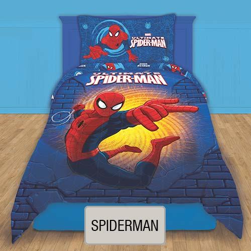 Cubrecama Quilt Reversible Disney - Spiderman