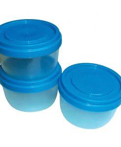 Plasticos - Bowl con tapa apilable rosca x2