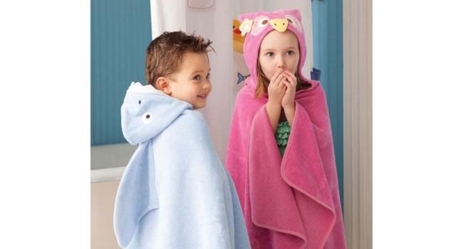toallon con capucha con formas