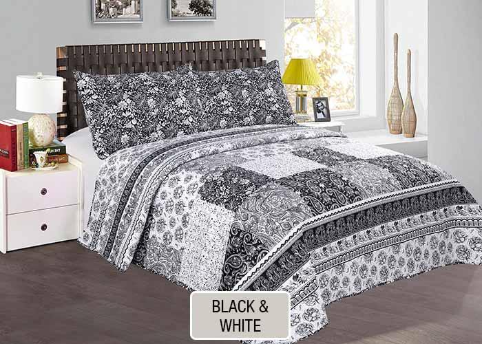Cover Quilt Estampado - Black and White- BNLQUILT