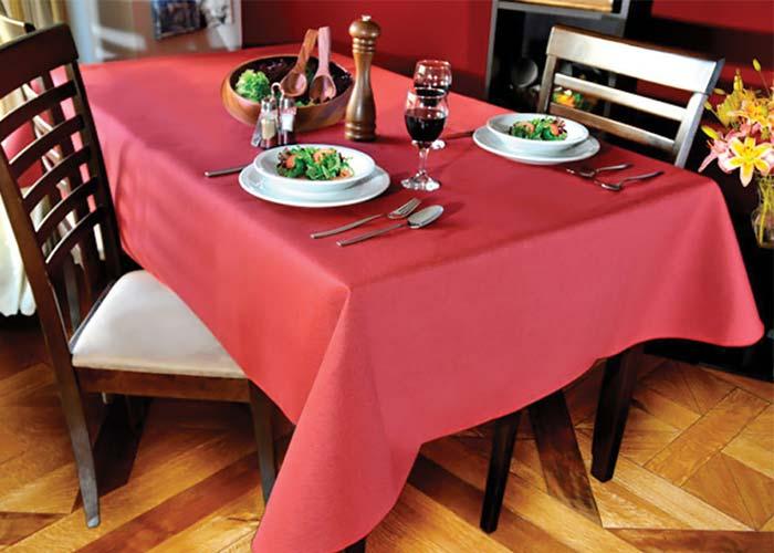 Mantel Ecocuero Liso - Rojo