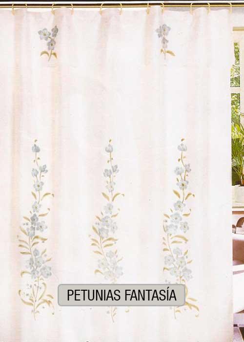 Cortina de baño tradicional - DI360 - Petunias Fantasia