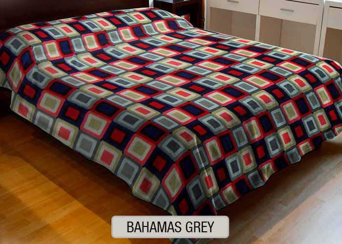 Frazada Polar Estampada - Bahamas Grey