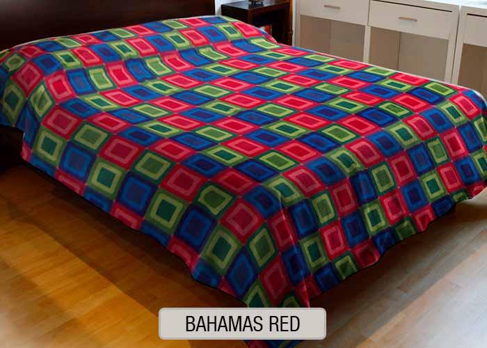 Frazada Polar Estampada - Bahamas Red
