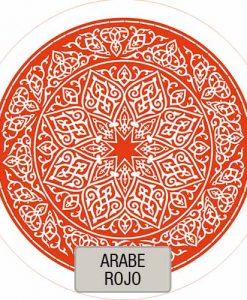 Mantel Redondo Estampado Arabe Rojo VHMAN180E