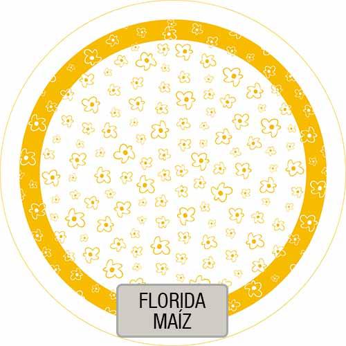 Mantel Redondo Estampado Florida Maiz VHMAN180E