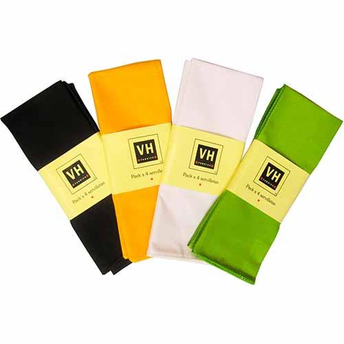 Mantel Servilleta Lisa Color x4