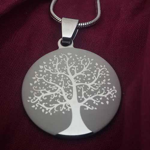 Collar Arbol de la Vida Grabado + Cadena 50 cm