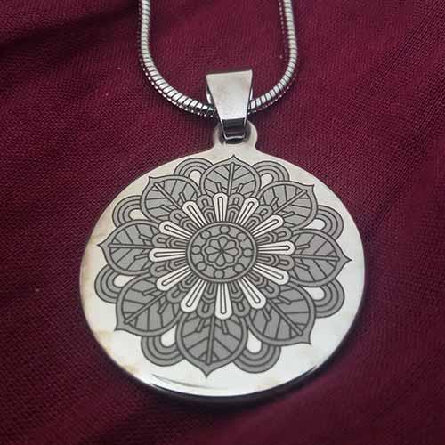 Collar Mandalas + Cadena 50 cm