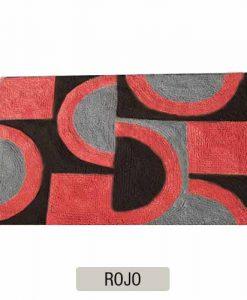 ALFOMBRAS DE BAÑO BLONDE - Negro y Rojo - DI658