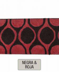 ALFOMBRAS DE BAÑO NAOMI - Negra y Roja - DI656